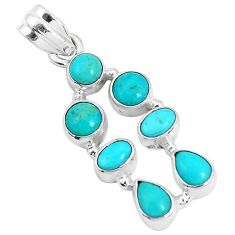 6.83cts green arizona mohave turquoise 925 sterling silver pendant p29054