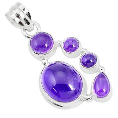 12.40cts natural purple amethyst 925 sterling silver pendant jewelry p29086