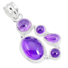 925 sterling silver 11.37cts natural purple amethyst oval pendant jewelry p29087