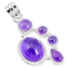 12.34cts natural purple amethyst 925 sterling silver pendant jewelry p29090