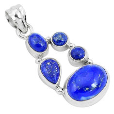 12.04cts natural blue lapis lazuli 925 sterling silver pendant jewelry p29721