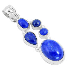 12.04cts natural blue lapis lazuli 925 sterling silver pendant jewelry p29731