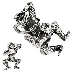 925 sterling silver indonesian 3d moving charm chimpanzee pendant jewelry p3112