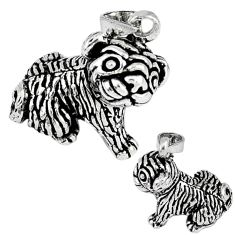 3d moving charm solid 925 sterling silver dog charm pendant jewelry p3120