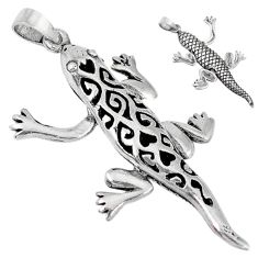 3d moving charm solid 925 sterling silver lizard pendant jewelry p3136