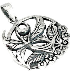 925 sterling silver indonesian bali style solid guardian angel pendant p3304