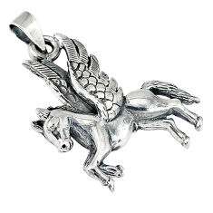 Horse bali style solid 925 sterling silver unicorn pendant jewelry p3386