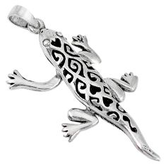 Indonesian bali style solid 925 sterling silver lizard pendant jewelry p3399
