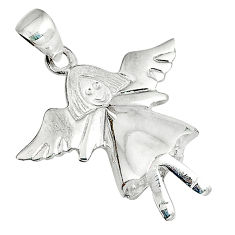 Indonesian bali style solid 925 silver ballet dance charm pendant jewelry p3405