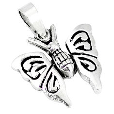 Indonesian bali style solid 925 sterling silver butterfly pendant p3482