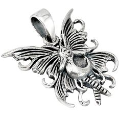 Indonesian bali style solid 925 sterling silver angel wing pendant p3533