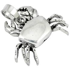 Indonesian bali style solid 925 sterling silver crab pendant p3566