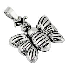 Indonesian bali style solid 925 sterling silver butterfly pendant p3613