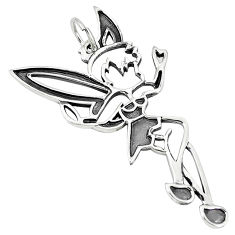 Indonesian bali style solid 925 silver angel wings fairy pendant jewelry p3657
