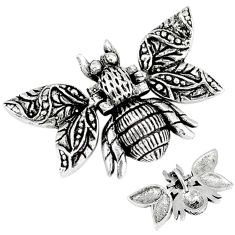 Indonesian bali style solid 925 sterling silver honey bee pendant jewelry p3662