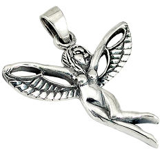 Indonesian bali style solid 925 silver flying angel wings pendant p3710