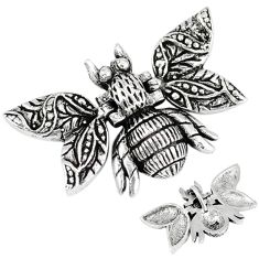 925 sterling silver indonesian bali style solid honey bee pendant jewelry p3713