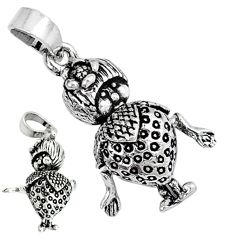 Indonesian bali style solid 925 sterling silver doll charm pendant jewelry p3729