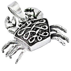 4.66gms indonesian bali style solid 925 sterling silver crab pendant p4191
