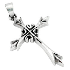 6.98gms indonesian bali style solid 925 sterling silver holy cross pendant p4221