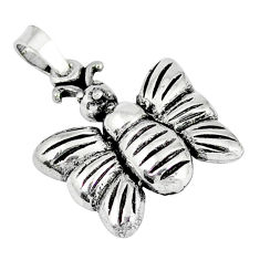 4.46gms indonesian bali style solid 925 sterling silver butterfly pendant p4307