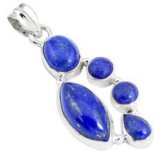 925 sterling silver 17.18cts natural blue lapis lazuli pendant jewelry p5046