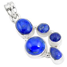 13.05cts natural blue lapis lazuli 925 sterling silver pendant jewelry p5056