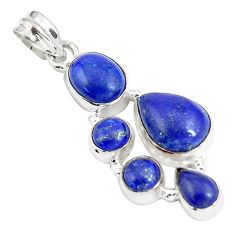 13.09cts natural blue lapis lazuli 925 sterling silver pendant jewelry p5058