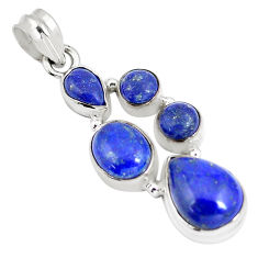 13.05cts natural blue lapis lazuli 925 sterling silver pendant jewelry p5059