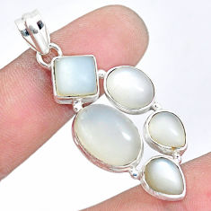 17.36cts natural white moonstone 925 sterling silver pendant jewelry p5091