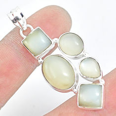 18.98cts natural white moonstone 925 sterling silver pendant jewelry p5095