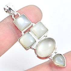 18.51cts natural white moonstone 925 sterling silver pendant jewelry p5096