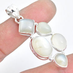 925 sterling silver 17.81cts natural white moonstone pendant jewelry p5098
