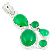 12.20cts natural green chalcedony 925 sterling silver pendant jewelry p5182