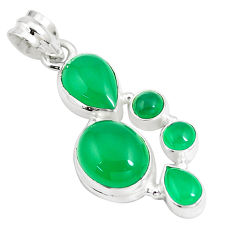 11.44cts natural aqua chalcedony 925 sterling silver pendant jewelry p5221