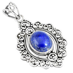 5.78cts natural blue lapis lazuli 925 sterling silver pendant jewelry p7588