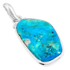 14.72cts natural green opaline 925 sterling silver pendant jewelry p8501