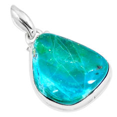 17.42cts natural green opaline 925 sterling silver pendant jewelry p8508