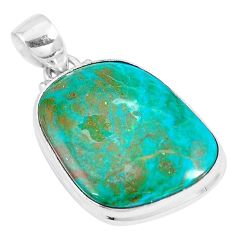 15.02cts natural green opaline fancy 925 sterling silver pendant jewelry p8509