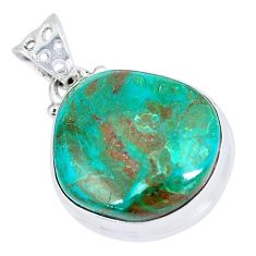11.74cts natural green opaline fancy 925 sterling silver pendant jewelry p8516