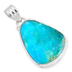 11.69cts natural blue opaline fancy 925 sterling silver pendant jewelry p8520