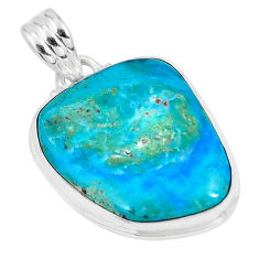 13.67cts natural green opaline fancy 925 sterling silver pendant jewelry p8525