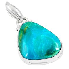 925 sterling silver 13.22cts natural green opaline fancy pendant jewelry p8530