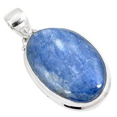 19.72cts natural blue kyanite 925 sterling silver pendant jewelry p8593