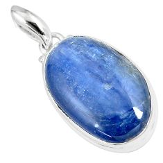 19.72cts natural blue kyanite 925 sterling silver pendant jewelry p8594