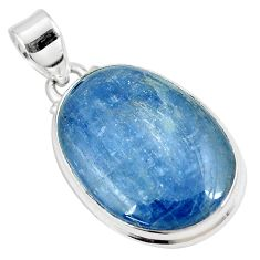 19.07cts natural blue kyanite 925 sterling silver pendant jewelry p8597