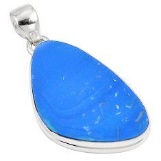 925 sterling silver 13.87cts natural blue doublet opal australian pendant p8773