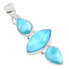 12.58cts natural blue larimar 925 sterling silver pendant jewelry p93307