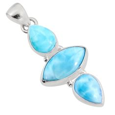 925 sterling silver 12.22cts natural blue larimar pendant jewelry p93309