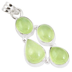 925 sterling silver 17.95cts natural green prehnite pendant jewelry p9350